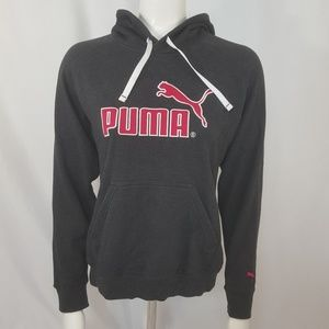 Puma dry cell hoodie women's gray pink SZ small